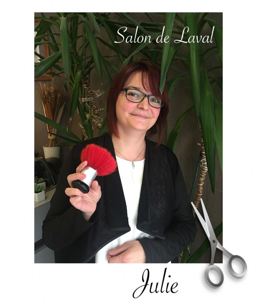 Julie coiffeuse - salon atelier coiffure laval