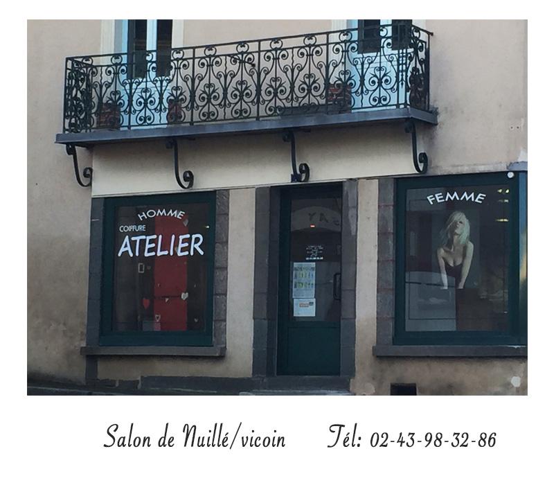 Salon de coiffure - Atelier Coiffure Nuillé sur Vicoin - Tél :02.43.98.32.86